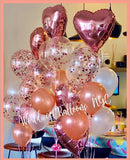 Rose Gold Confetti Balloon Bouquet