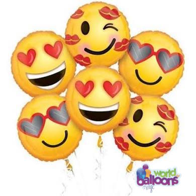 Happy Face Emoji Balloon Bouquet