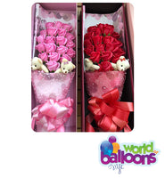 One Dozen Roses Scented Soap Artificial Flower Bouquet