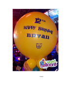 Personalized Jumbo Latex Balloon