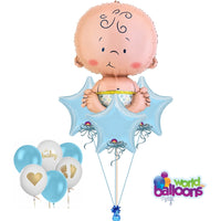 Oh Baby! Blue Balloon Bouquet