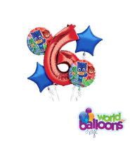 6TH Birthday Age Balloon Bouquet