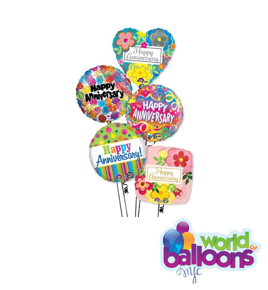 Assortment Anniversary Balloon Bouquet