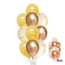 Rose/Gold Confetti Balloon Bouquet