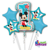 1st Birthday Mickey Mouse Balloon Bouquet