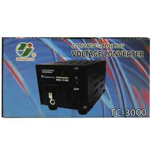 GOLDSOURCE 3000 WATTS, 220/240V ↔ 110/220V VOLTAGE CONVERTER
