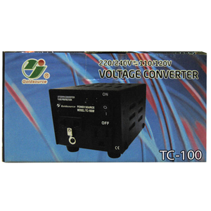 GOLDSOURCE 100 WATTS, 220/240V ↔ 110/220V VOLTAGE CONVERTER