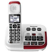 Panasonic 1.9GHz 1-Handset Amplified Cordless Phone with Answering Machine (KXTGM470W) - White - Refurbished