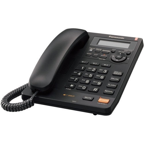 Panasonic KXTS620 Black Corded Phone with Caller ID and Answering Machine - Open Box