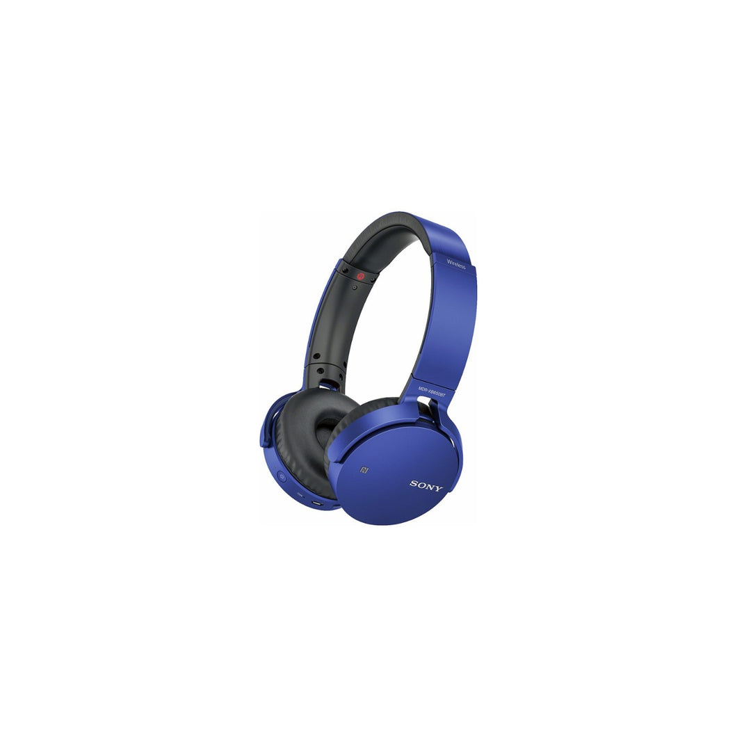 Sony Over-Ear Sound Isolating Wireless Headphones with Mic, Blue (MDRXB650BT/B) - Refurbished