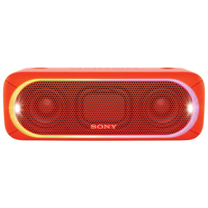 Sony Splashproof Bluetooth Wireless Speaker, Red (SRS-XB30) - Refurbished