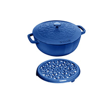 Staub Cast Iron 2-Piece 3.75QT/3.6L Round French Oven & Trivet Set