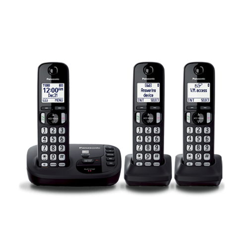 Panasonic 3-Handset DECT Cordless Phone (KX-TGD223C)-refurbished