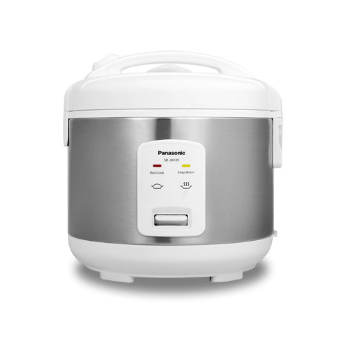 Panasonic SR-JN105 5-Cup Stainless/White Electric Rice Cooker - Refurbished