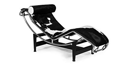 GRAVITY CHAISE LOUNGE - BLACK/WHITE COWHIDE - Home Office Makeover