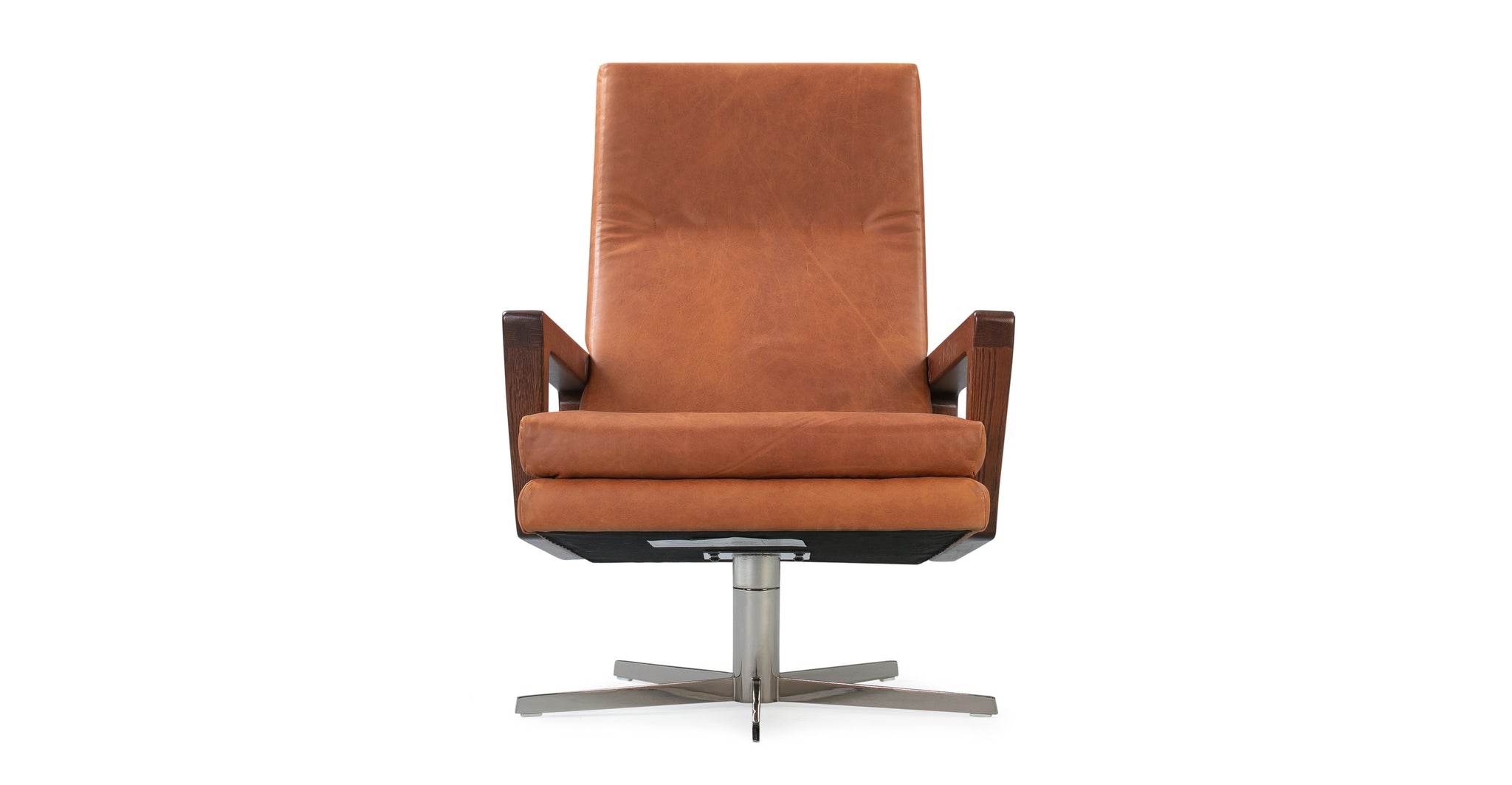 "Winston Swivel 30"" Leather Chair - Home Office Makeover"
