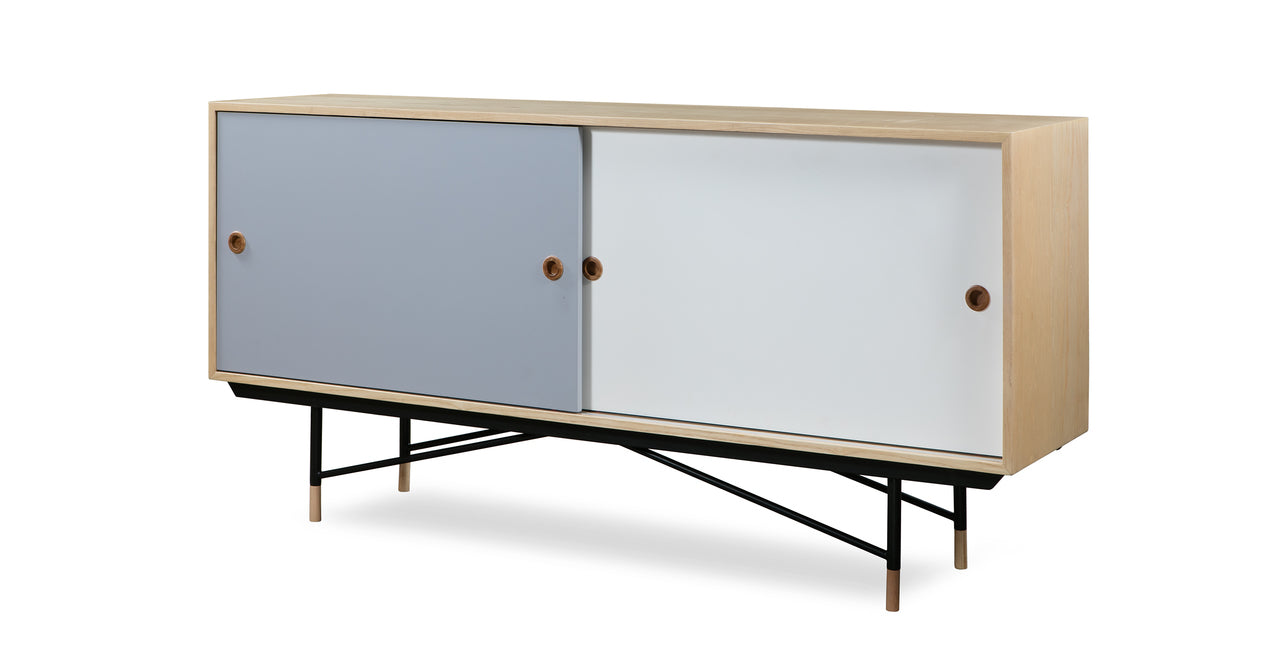 "COLOR THEORY SIDEBOARD - NATURAL/GREY 77"" - Home Office Makeover"