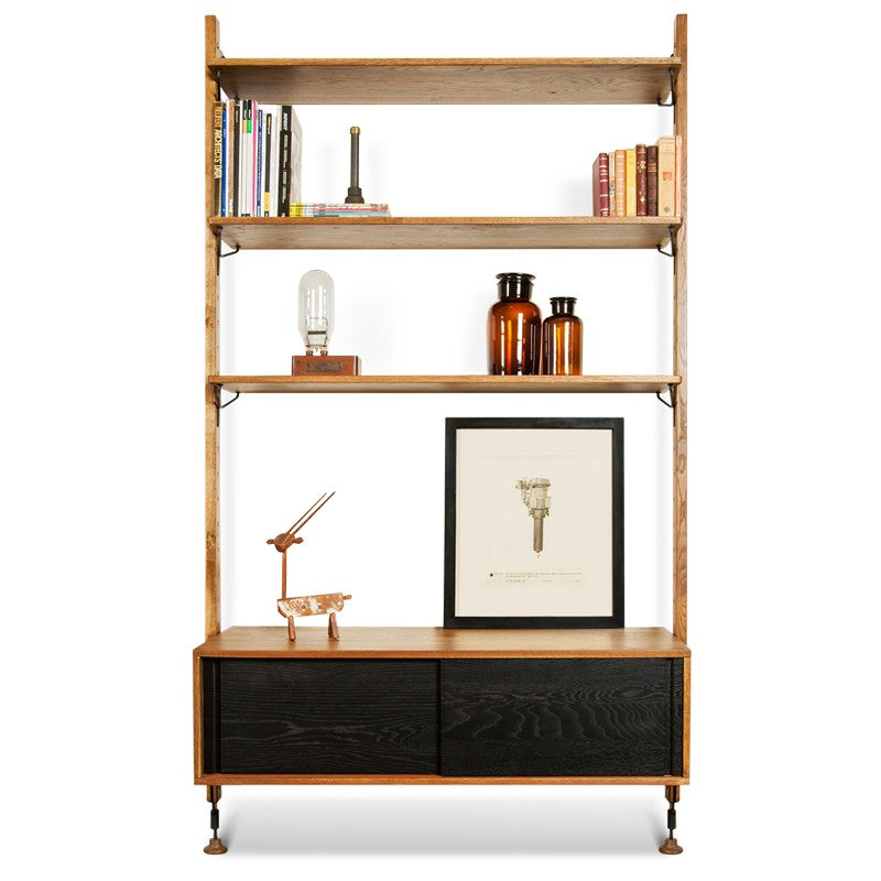 THEO WALL UNIT WITH DRAWER - HARD FUMED - Home Office Makeover