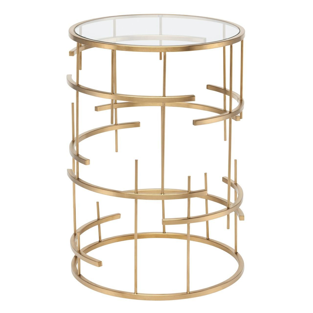 TIFFANY SIDE TABLE - GOLD - Home Office Makeover