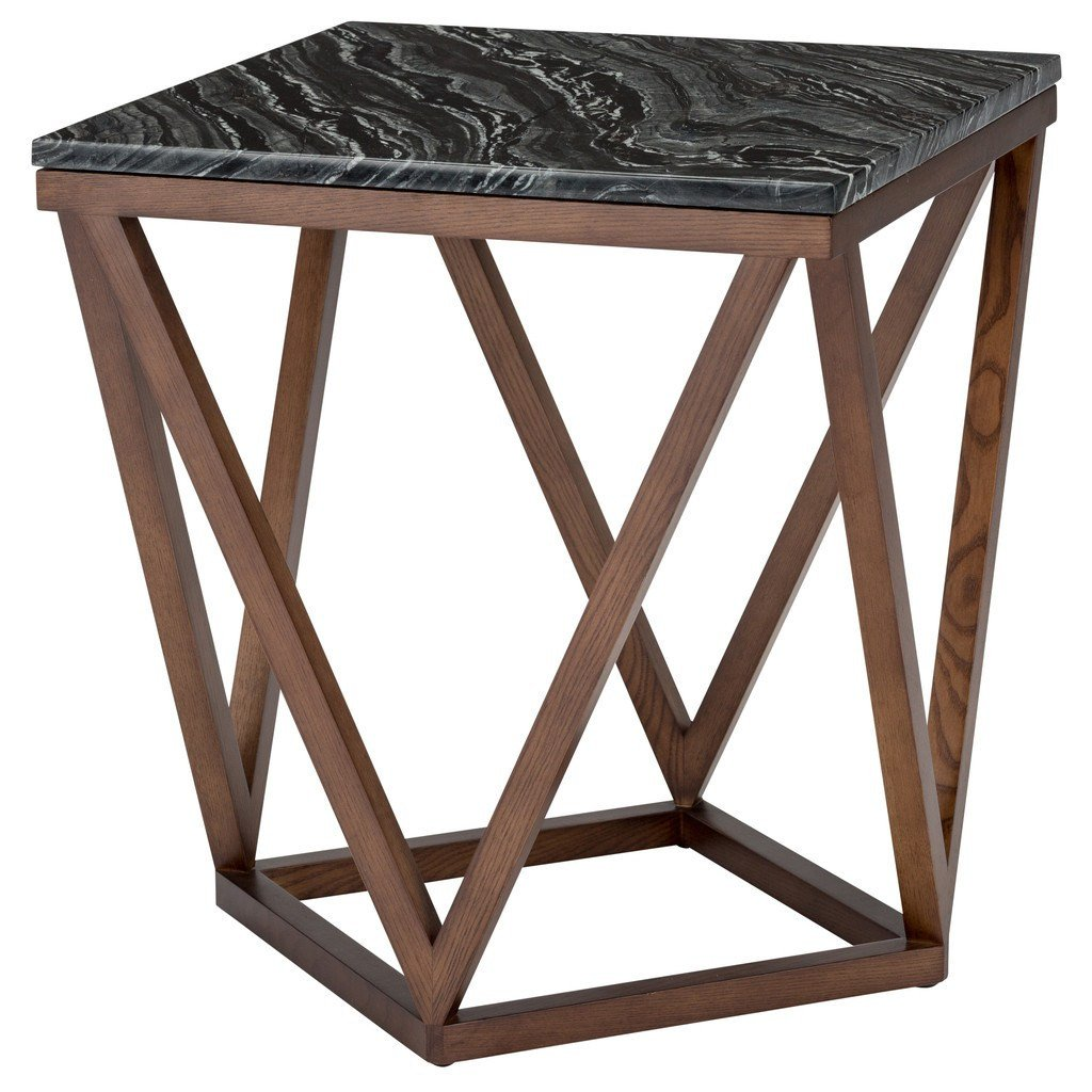 JASMINE SIDE TABLE - BLACK WOOD VEIN - Home Office Makeover