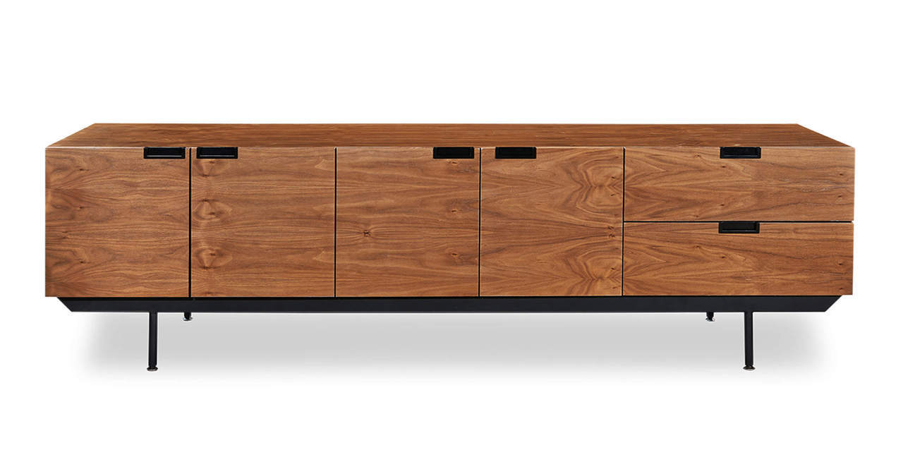 "STRUCTURE CREDENZA WALNUT 82"" - Home Office Makeover"