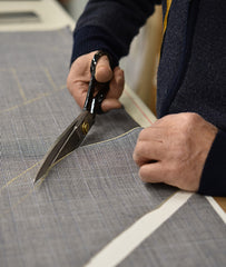 Cutting tie fabric