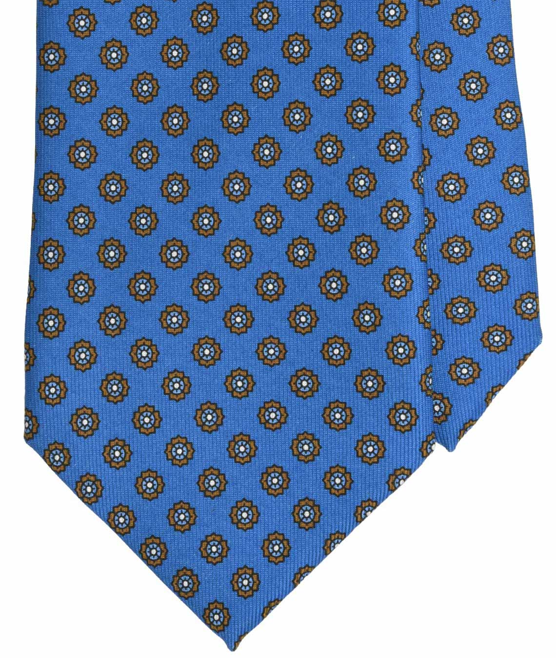 Bigi Milano, 36 ounce handprinted silk, floral blue