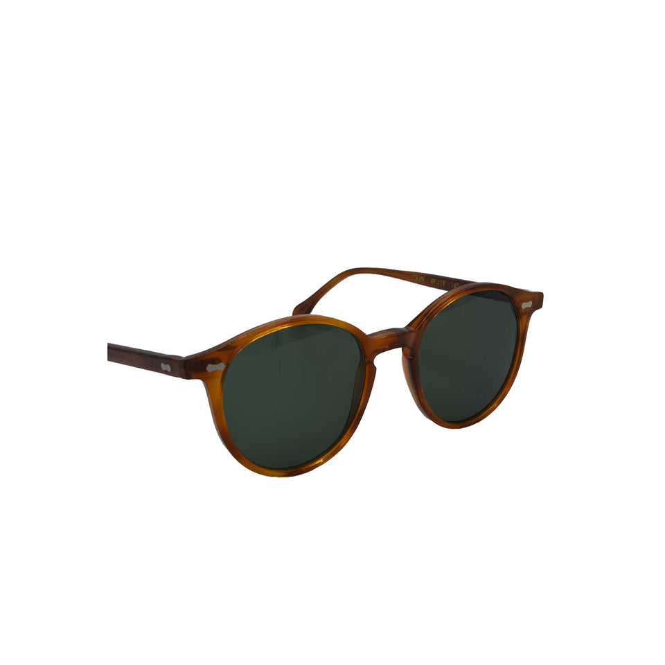 The Bespoke Dudes 'Cran' sunglasses - classic tortoise/bottle green