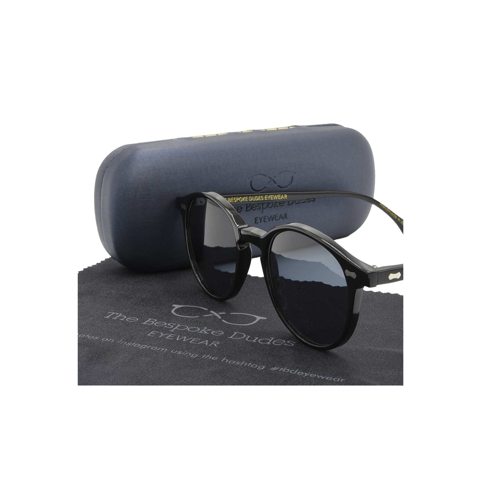 The Bespoke Dudes 'Cran' sunglasses - black/gradient grey