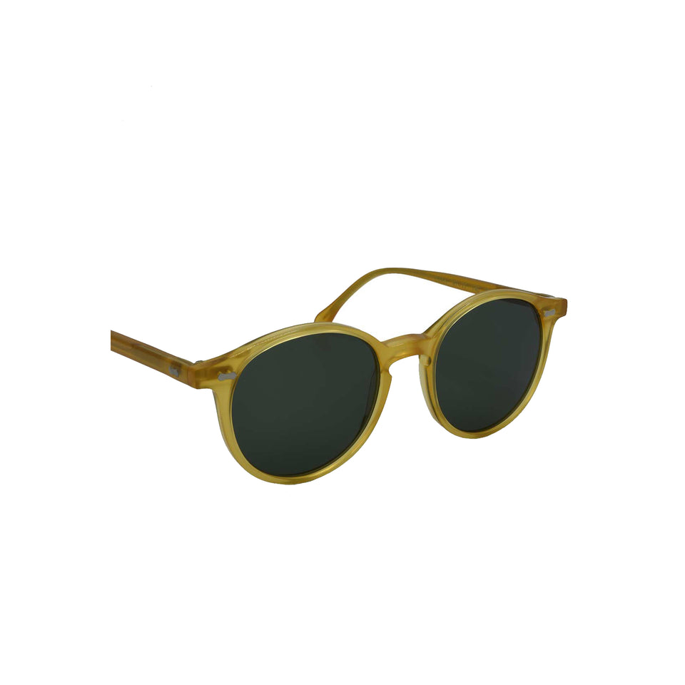 The Bespoke Dudes 'Cran' sunglasses - honey/bottle green