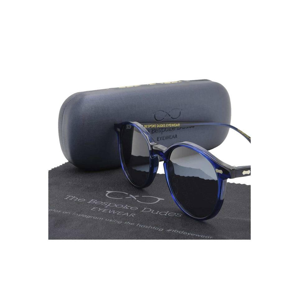 The Bespoke Dudes 'Cran' sunglasses - blue/gradient grey