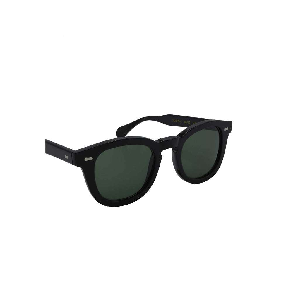 The Bespoke Dudes 'Donegal' sunglasses - black/bottle green