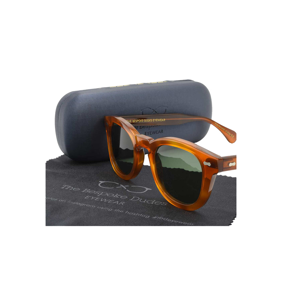 The Bespoke Dudes 'Donegal' sunglasses - classic tortoise/bottle green