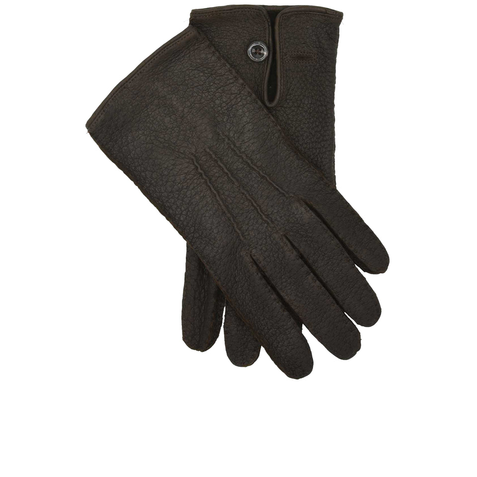 Amidé Hadelin | Peccary gloves, Dark Brown
