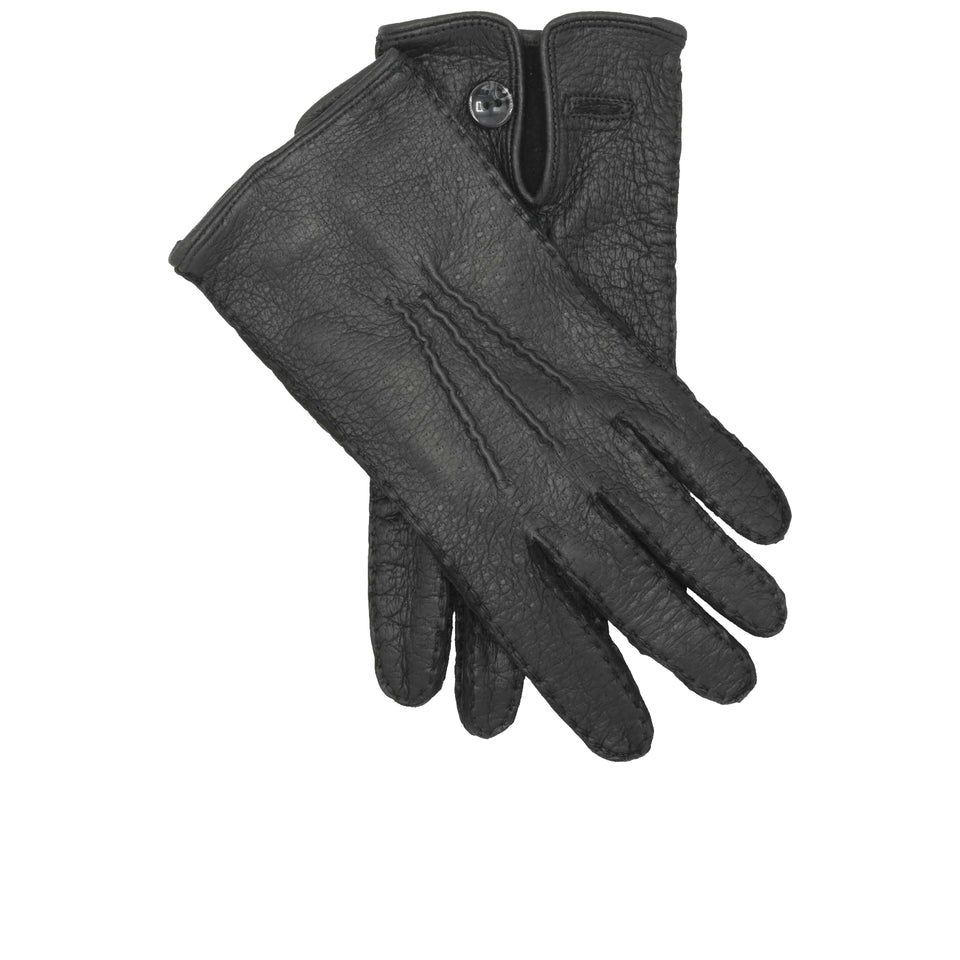 Amidé Hadelin | Peccary gloves, Black