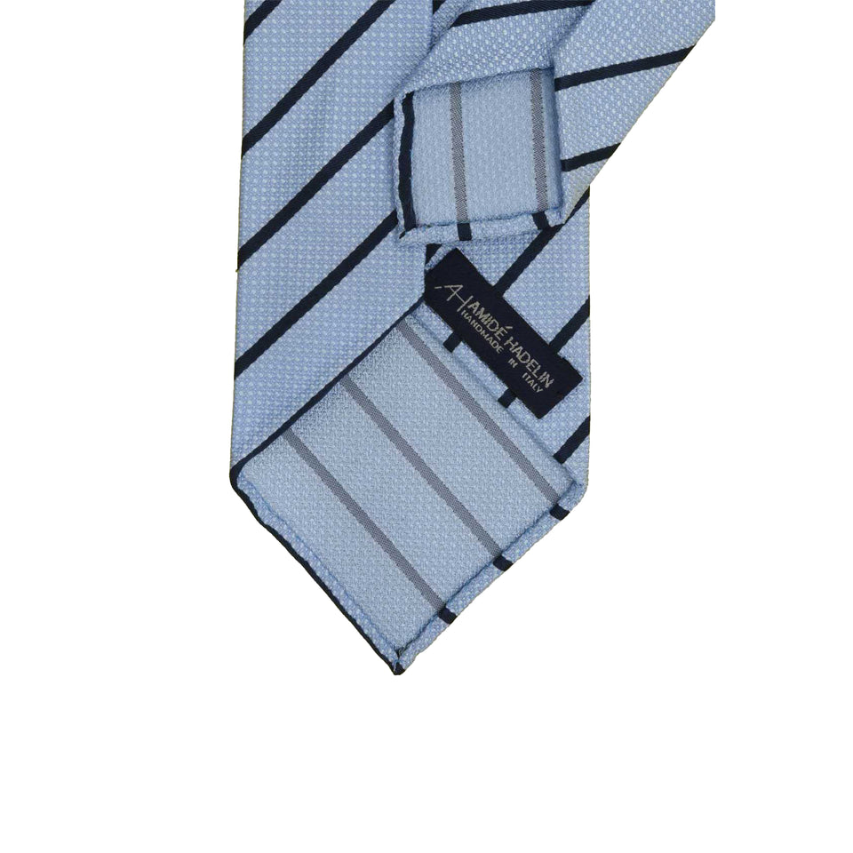 Amidé Hadelin | Jacquard stripe, light blue/navy