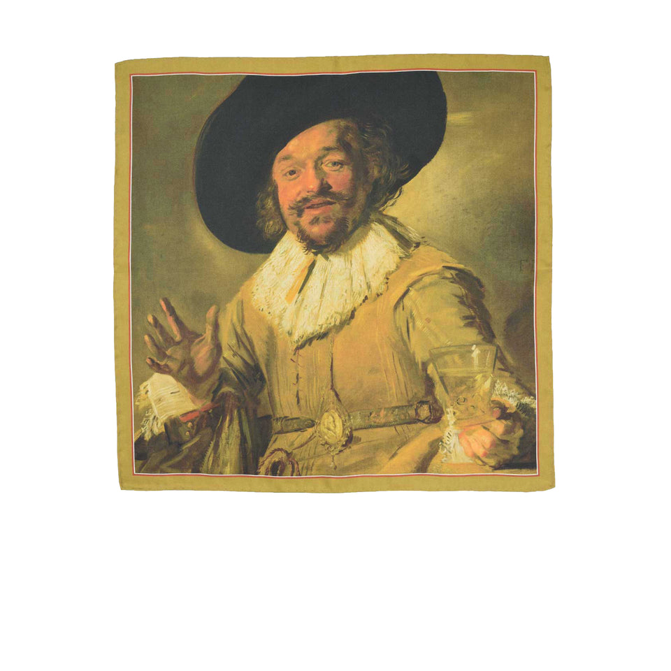 Amidé Hadelin | Frans Hals pocket square 'The Merry Drinker'