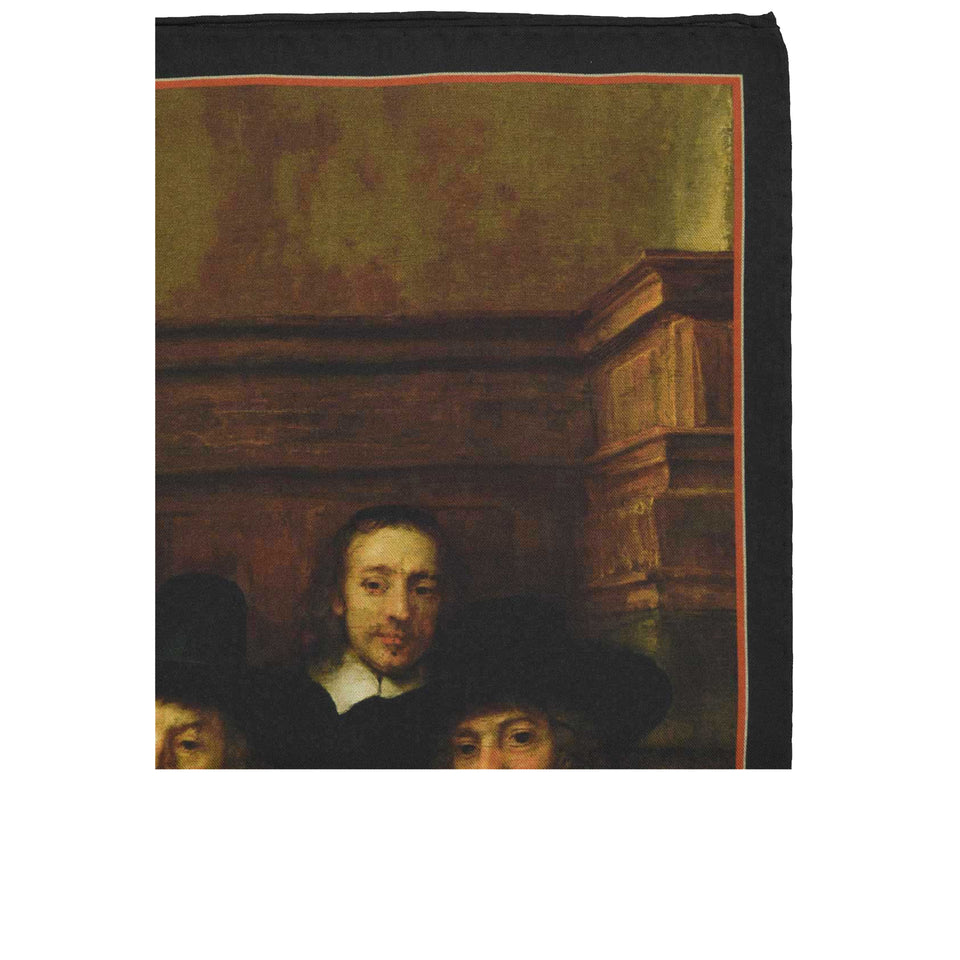 Amidé Hadelin | Rembrandt van Rijn pocket square 'The Syndics'