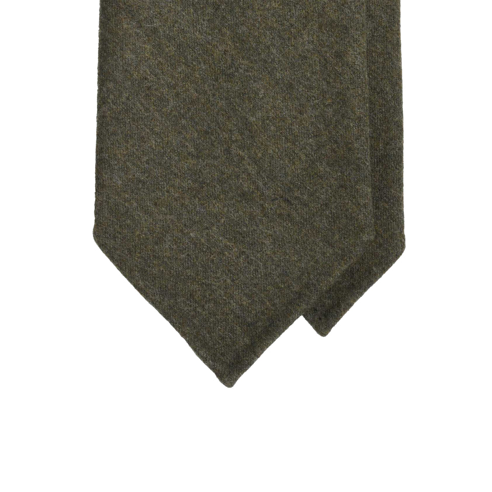 Amidé Hadelin | Fox Brothers 6-fold flannel tie, olive drab