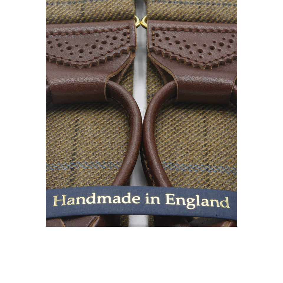 Amidé Hadelin | Abraham Moon windowpane braces - brown