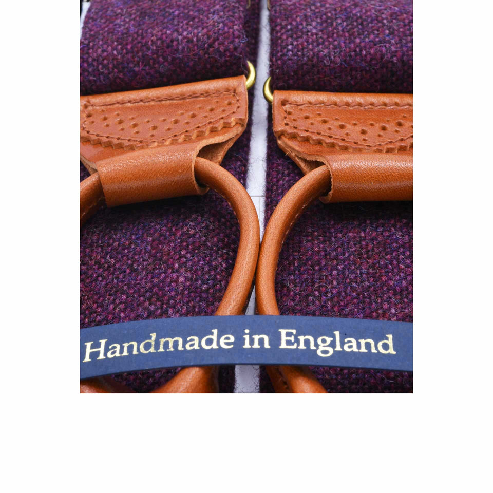 Amidé Hadelin | Abraham Moon tweed braces - purple