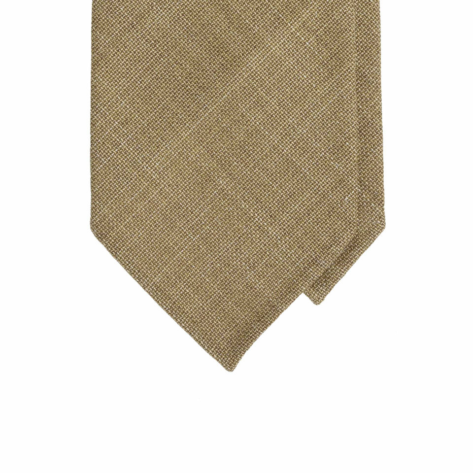Amidé Hadelin | F.lli Tallia di Delfino 6-fold tie - light brown