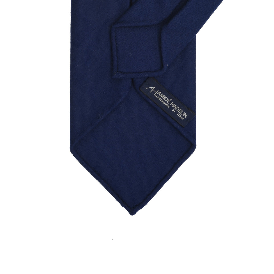 Amidé Hadelin | Fox Brothers 6-fold flannel tie, French navy