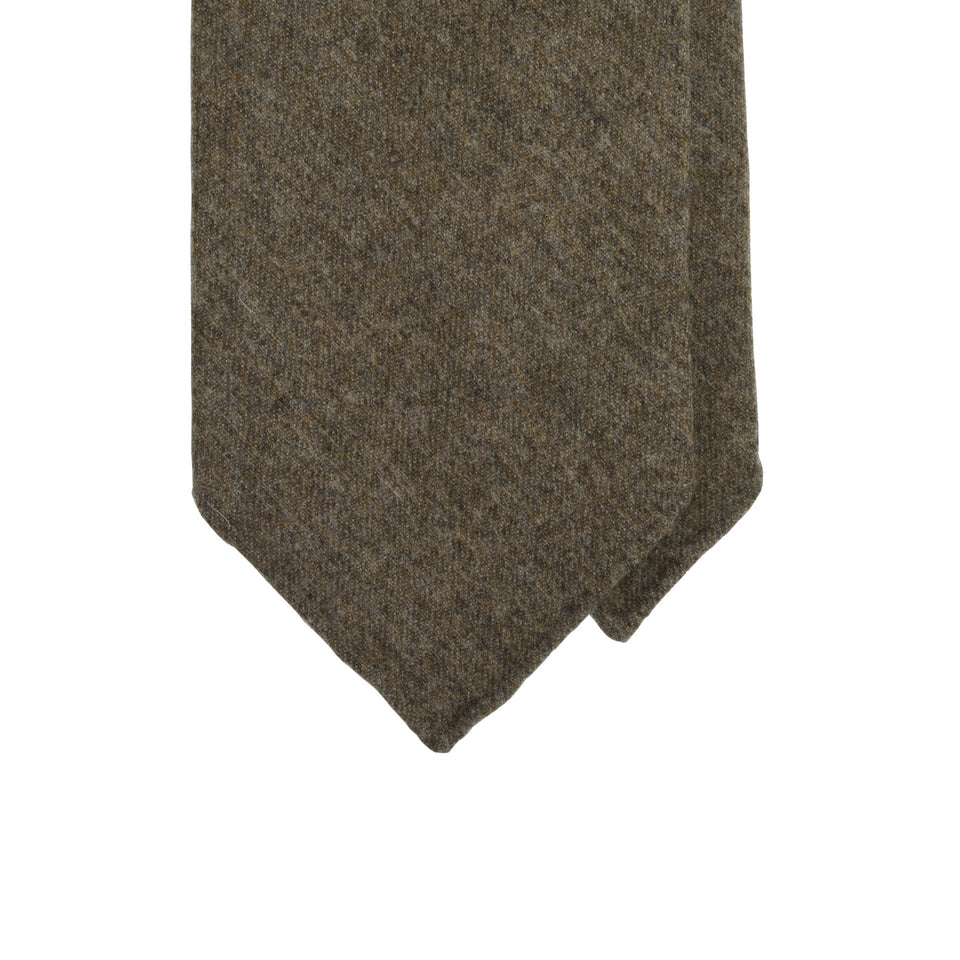 Amidé Hadelin | Fox Brothers 6-fold flannel tie, brown