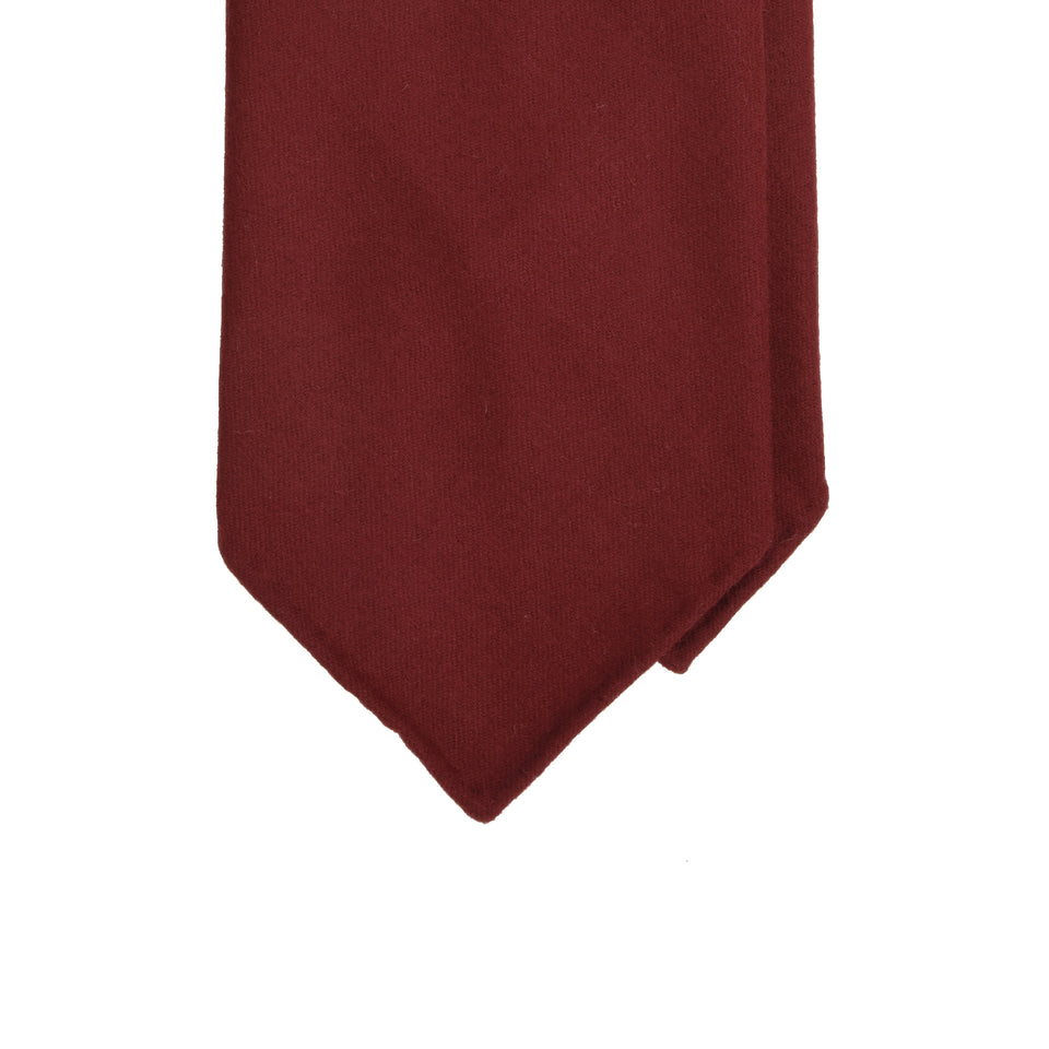 Amidé Hadelin | Fox Brothers 6-fold flannel tie, red