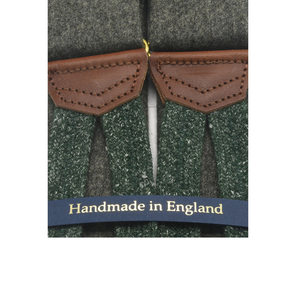 Amidé Hadelin | Fox Brothers flannel braces - greyish green