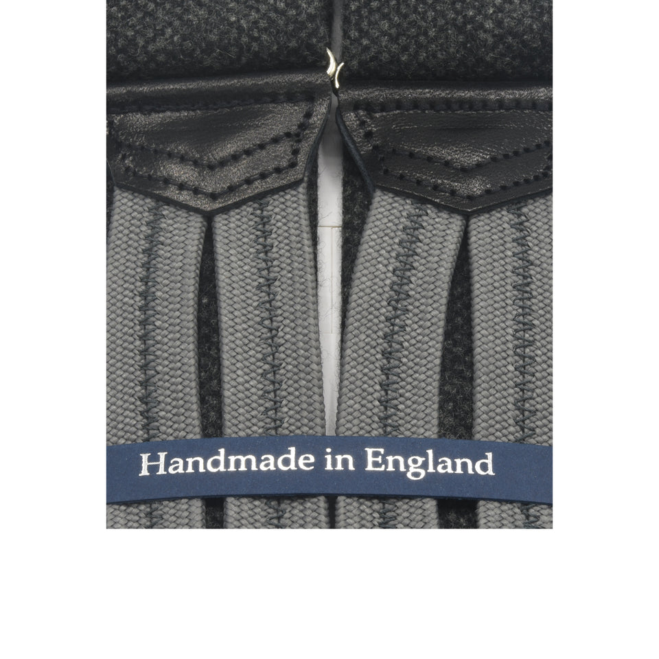 Amidé Hadelin | Fox Brothers flannel braces - grey