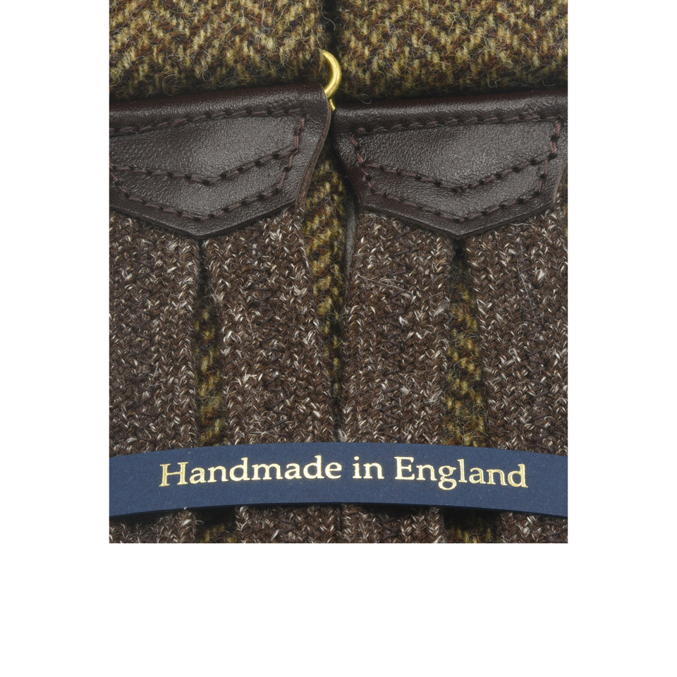 Amidé Hadelin | Abraham Moon herringbone tweed braces - brown
