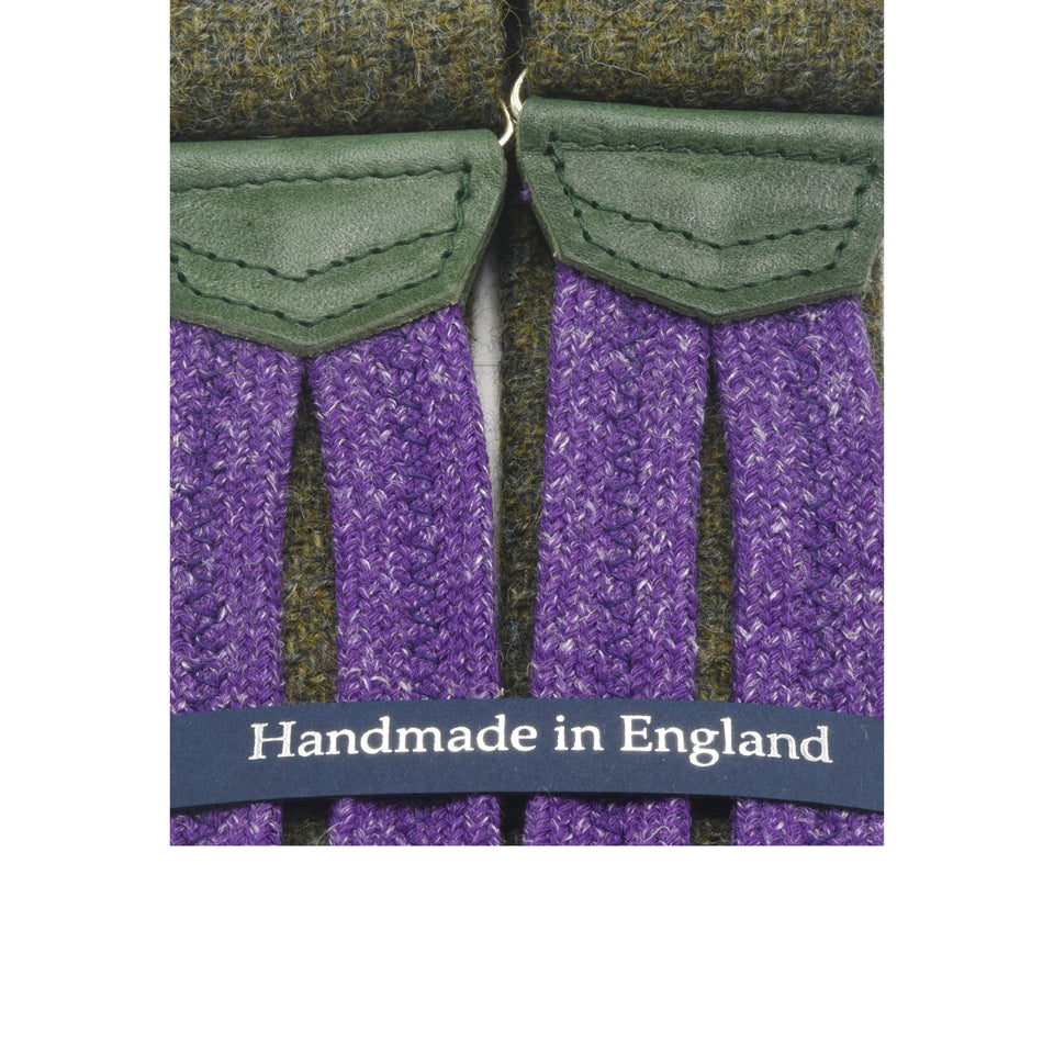 Amidé Hadelin | Abraham Moon tweed braces - green