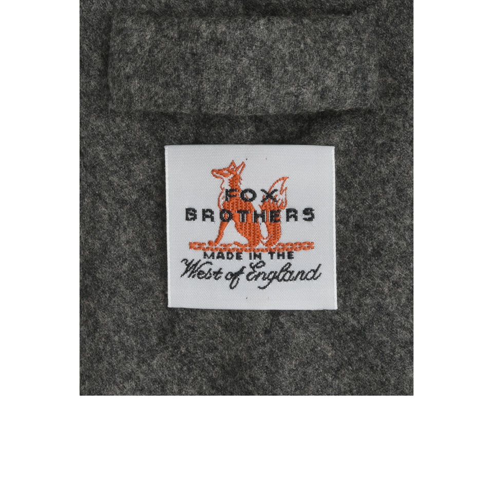 Amidé Hadelin | Fox Brothers 6-fold flannel tie, grey